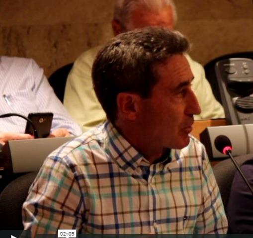El portavoz ayer en el Pleno de la Comarca de Teruel, Antonio Gimeno