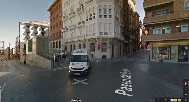 En la imagen de Google Maps, la zona de la calle nueva que se va a reparar