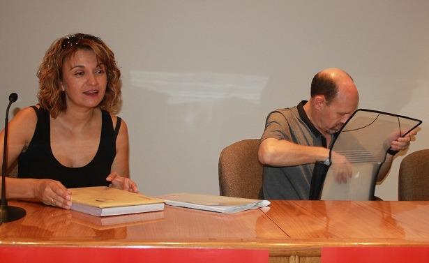 En la iamgen, la responsable provincial del CCOO Mariluz Benedicto y el Secretario regional de Acción Sindical, Manuel Pina