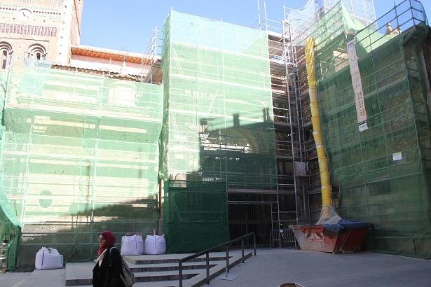 Imagen de las obras de restauración que se inaugurarán el lunes