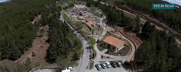 Una vista aérea del Parque  de  la Fuente Cerrada