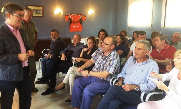 Una imagen de la reunión de esta tarde del Comité Ejecutivo del PSOE de la provincia de Teruel