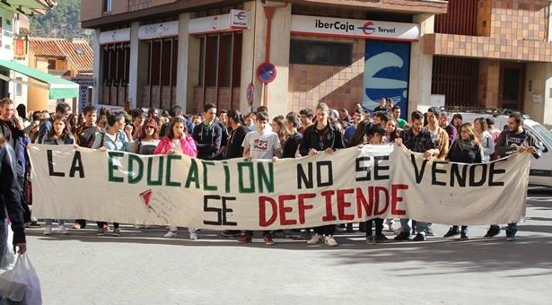 Imagen de una protesta estudiantil del año 2014
