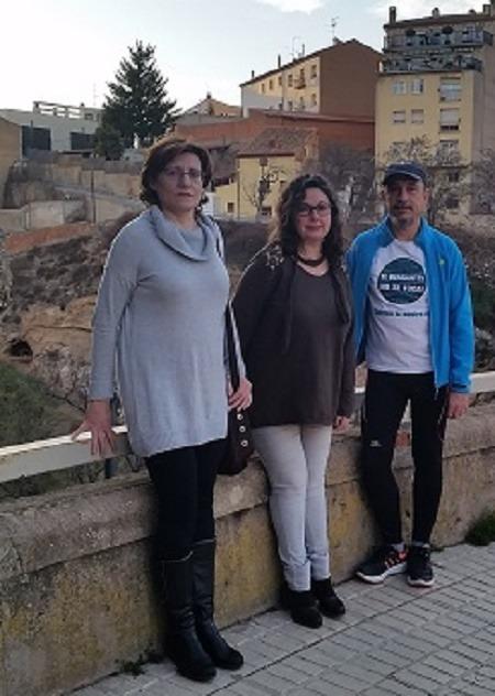 En la imagen de archivo, los concejales de Ganar Teruel en el Ayuntamiento de la capital . De izquierda a derecha , Carmen Tortajada, Anabel Gimeno y Jose C. Torralba