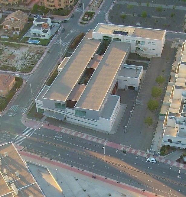 En la imagen el Centro de Salud del Ensanche , en la Avenida Europa de Teruel