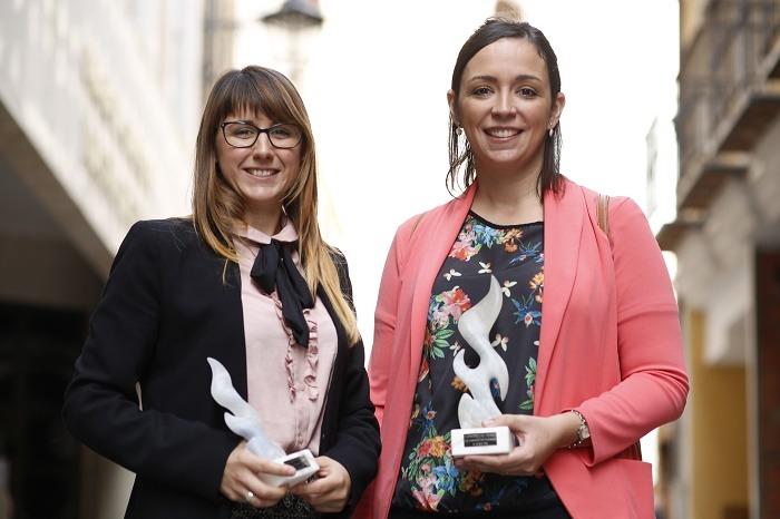 Las ganadoras del premio de Cooperación entre empresarias en Aragón 2016