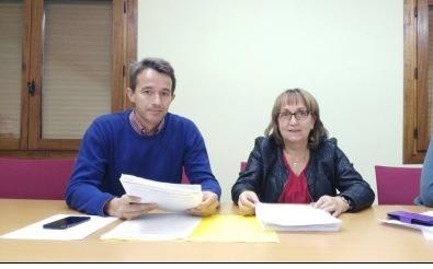 Los alcaldes de Mosqueruela, Maria Isabel Gil y Vilafranca, Óscar Tena,
