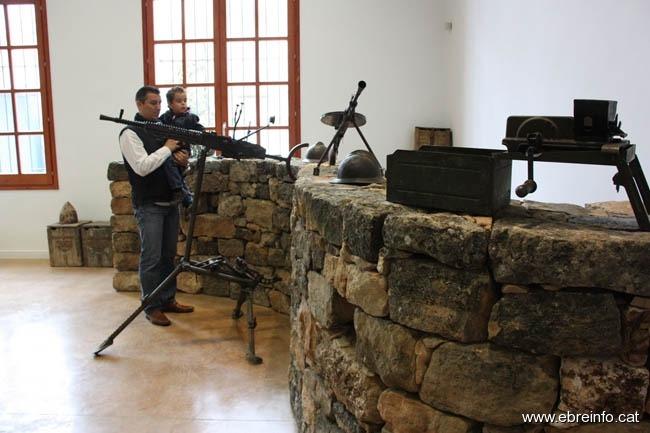Imagen de un pequeño museo que existe en Gandesa sobre la Batalla del Ebro