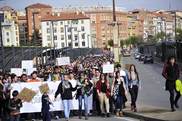 Imagen de archivo  de la Manifestación de Estudiantes del pasado Dia 26 de Octubre