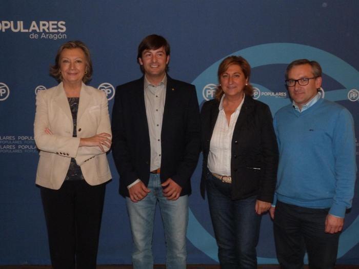 En la imagen, Rudi, Navarro, Pobo y Juste (de izquierda a derecha)