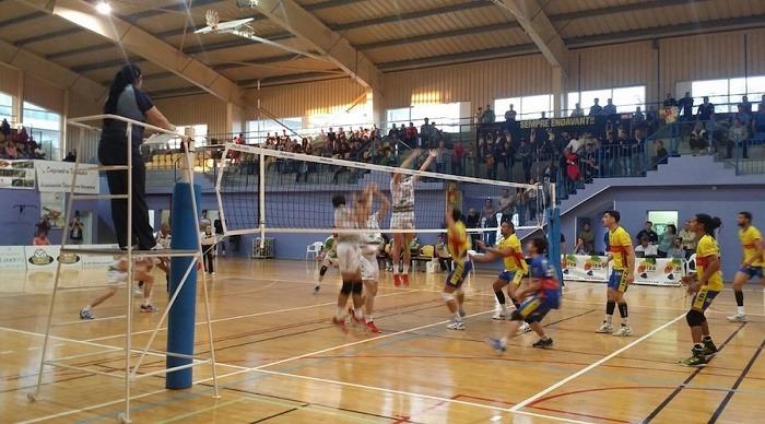 Imagen del Pabellón Es Viver de Ibiza donde mañana juega el Club Voleibol Teruel