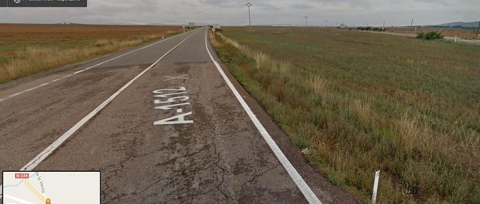 Una imagen de la carretera que el PP pide arreglar , al A-1512 y que lleva hasta Albarracín