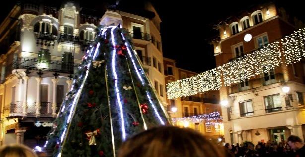 Una imagen del árbol de Navidad instalado el año pasado
