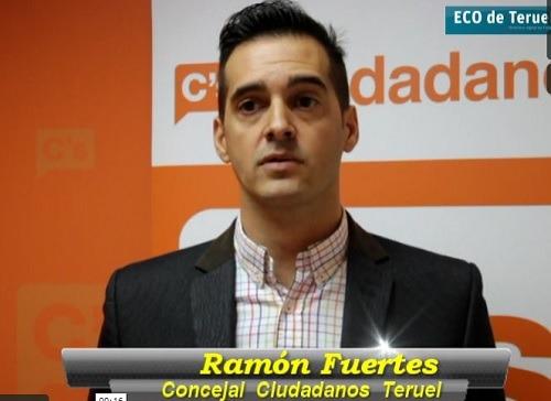 Una imagen de archivo de Ramón Fuertes , Concejal de Ciudadanos en el Ayuntamiento de Teruel
