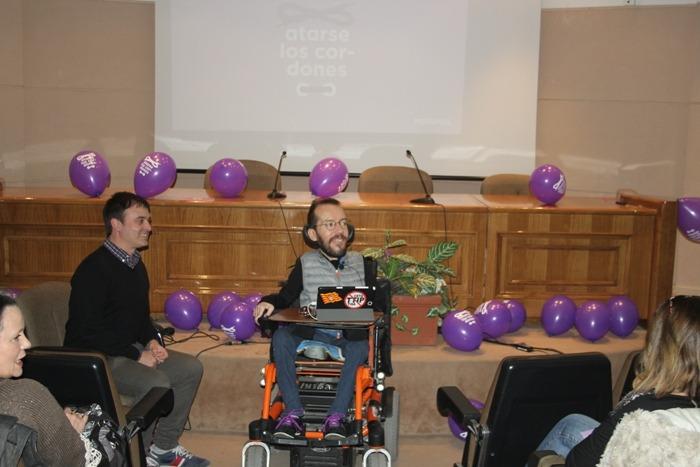 Pablo Echenique, Sec.De Organización de Podemos, ha estado hoy en Teruel