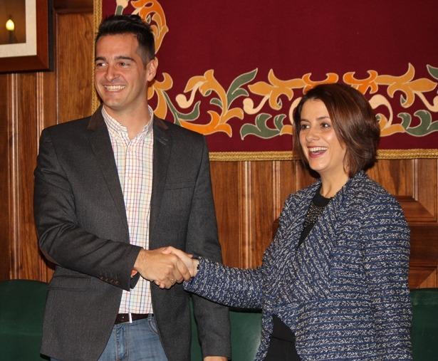 Emma Buj y Ramón Fuertes , hace unos meses
