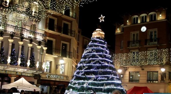 Una imagen reciente de la plaza del Torico de Teruel