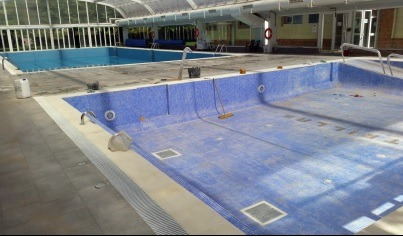 Utrillas finaliza la construcci n de una piscina for Piscina vicente del bosque